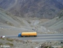 Camions franchissant les Andes