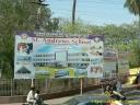 publicité pour un établissement scolaire privé en Inde