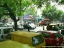 la circulation dans Delhi