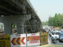 Les travaux de construction du métro de Delhi
