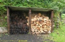 Stockage de tourbe et de bois en Irlande
