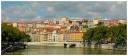 La Saône et la colline de La Croix-Rousse à Lyon