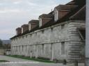 Saline d'Arc et Senans : façade arrière de la berne ouest