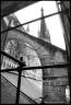 Cathédrale de Rouen : arc-boutant et flèche