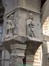Montant sculpté d'une maison du XVe siècle