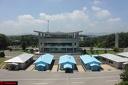 Pan Mun Jon : vue sur la ligne de démarcation entre les deux Corées